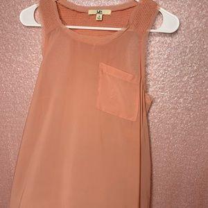 Pastel pink sheer top